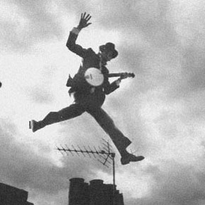 Jumping over the roof tops of London town