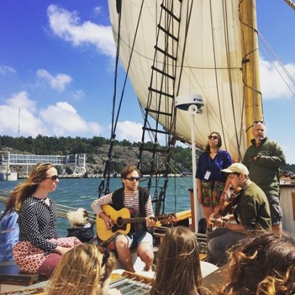 Playing with the Trad Academy Sea Shanty Choir