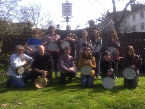 Teaching banjo at Cecil Sharp House