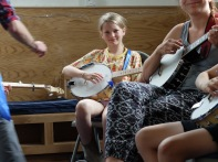 Teaching banjo on the Trad Academy Summer Camp
