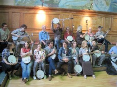 Banjo performance at Cecil Sharp House