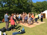 Trad Academy flatfoot dancing workshop at Fire in the Mountain