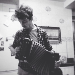 Playing melodeon