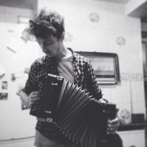 Playing melodeon