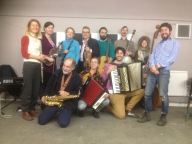 Jazz workshop taught by Pete Thomas for the Trad Academy