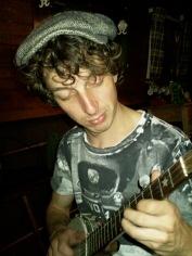 Practicing banjo on my narrow boat